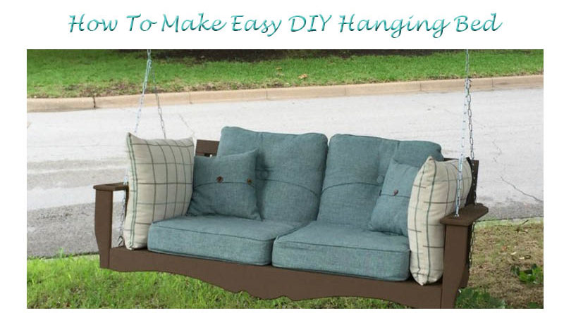 Diy hanging porch bed how to build the art in life for How to build a hanging bed