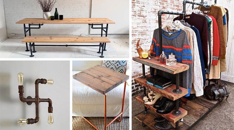 20 Cool DIY Metal Pipe Projects For Your Home - The ART in ...
