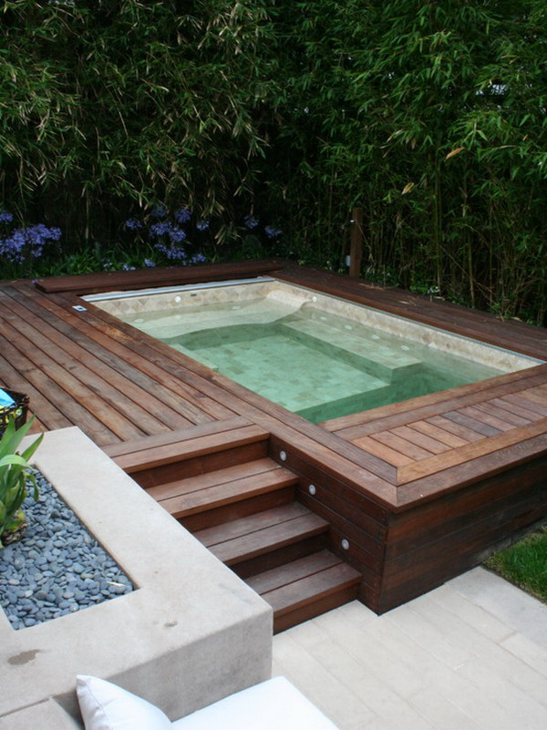 Wooden-Patio-Jacuzzi-Design