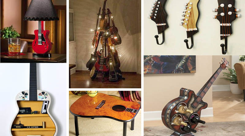 how to repurpose guitars in home decor the art in life. Black Bedroom Furniture Sets. Home Design Ideas
