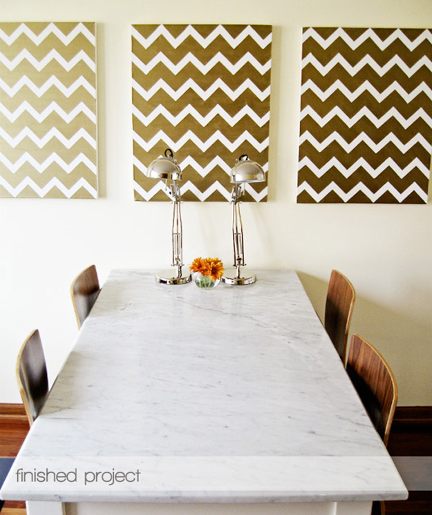 DIY-Gold-Chevron-Paintings