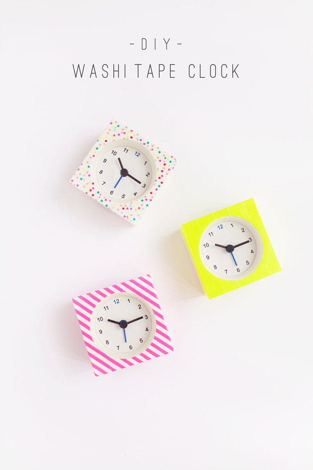 DIY-Washi-Tape-Clock