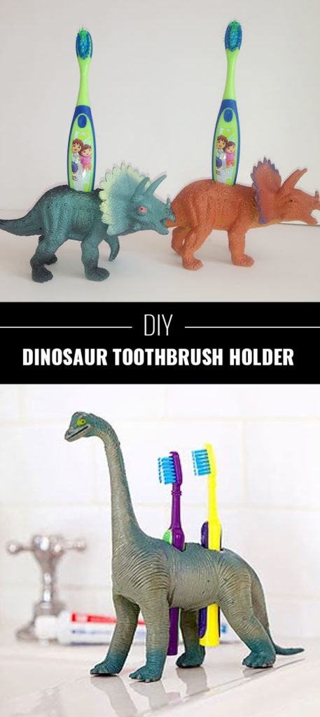Dinosaur-Toothbrush-Holders