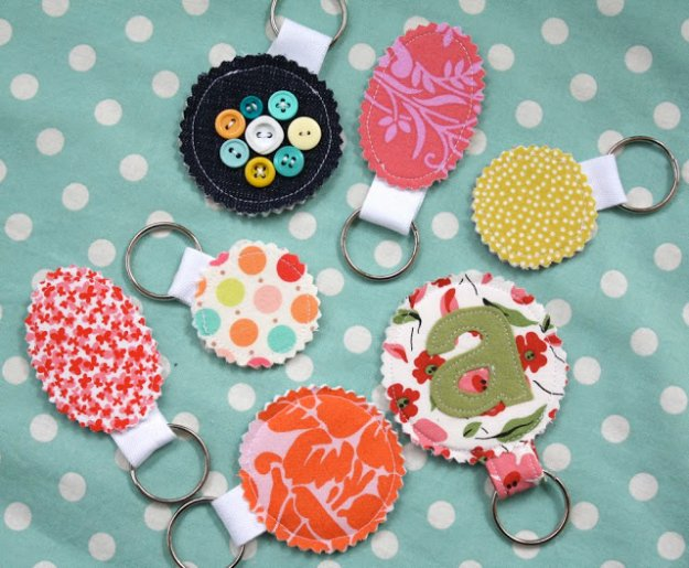 Fabric-Scrap-Key-Rings