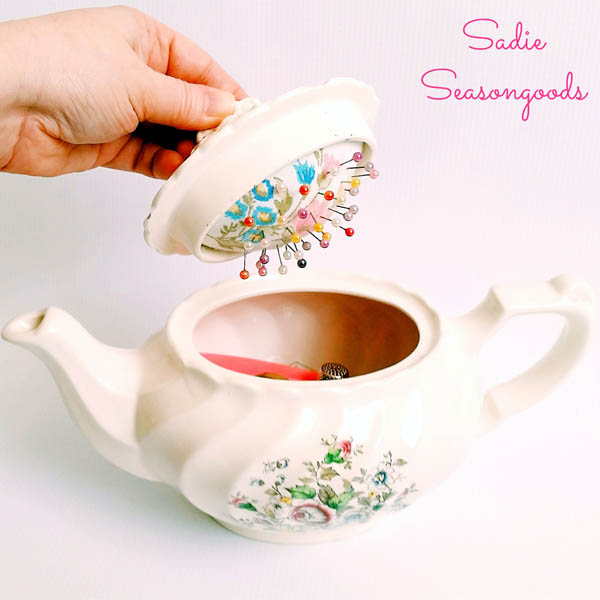 Sadie_Seasongoods_vintage_teapot_sewing_caddy_and_pincushion-1
