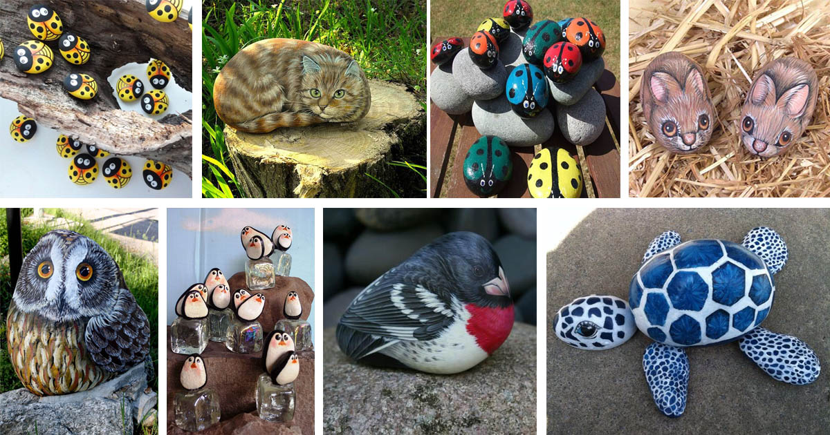 20 Wonderful Ideas For Painting Rocks That Look Like Real