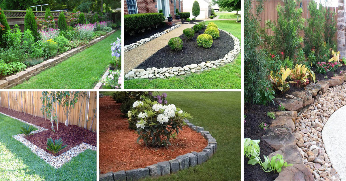 15 Wonderful Garden Edging Ideas With Pebbles And Stones The Art In Life