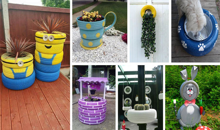 Brilliant Ways to Re purpose Old Tires Into Something New Garden Decor