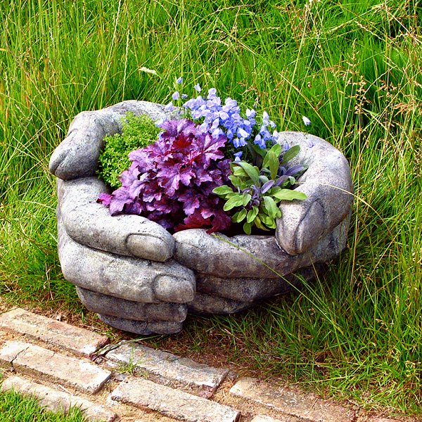 hand-flower-planter