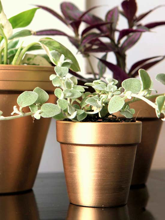 17 diy ideas to dress up terra cotta flower pots the art in life - Terracotta exterior paint set ...