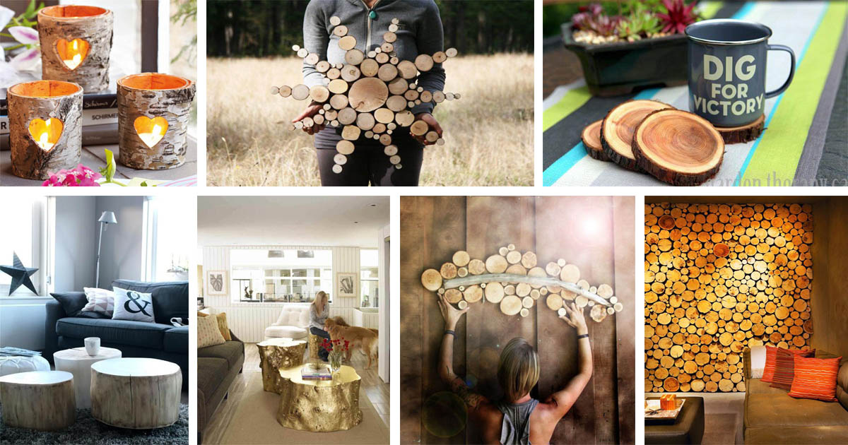 Wonderful tree trunk solutions for a warm and modern look of your home the art in life - Artistic wood clad design for warm essence in your house ...
