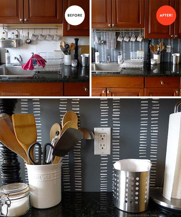 15 Inexpensive Diy Kitchen Backsplash Ideas And Tutorials
