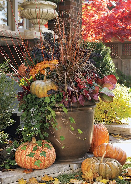 Beautiful Fall Container. 44d41006bd98a48d6cf1e2868f77efc0