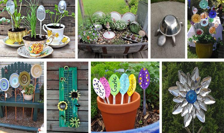 20 Mind-Blowing DIY Garden Ideas Using Old Kitchen Items