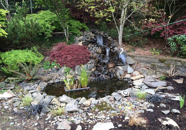 10 garden pond and waterfall