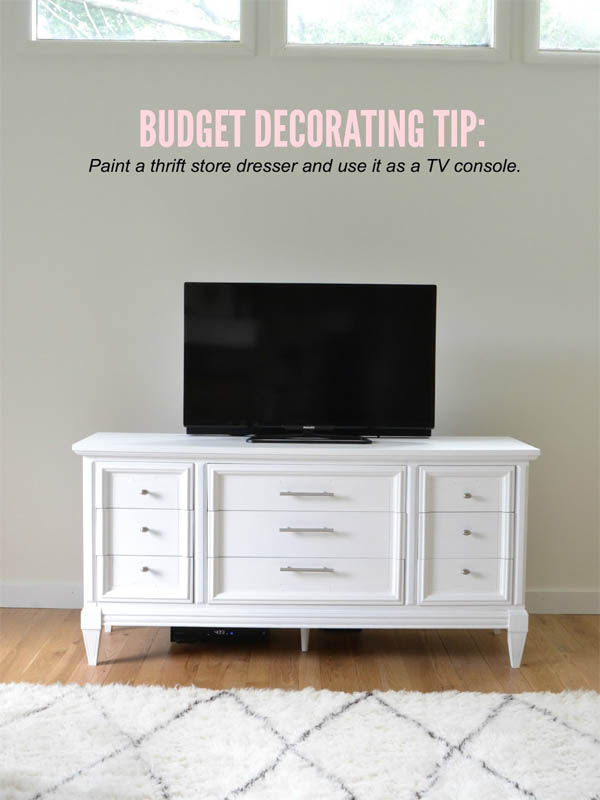 cheap-tv-console-dresser-idea