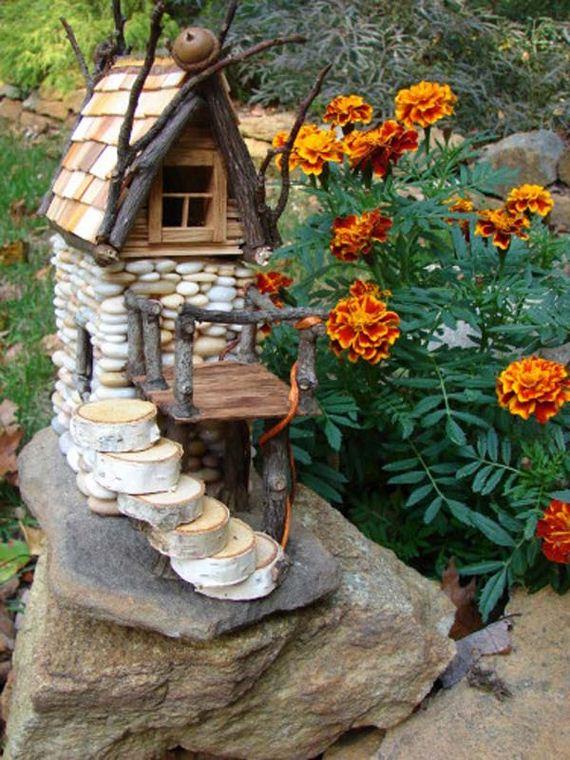 10 Mini Garden Stone Houses