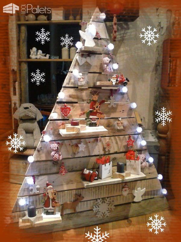 1001pallets com 40 pallet christmas trees holiday decorations - Wood Pallet Christmas Tree