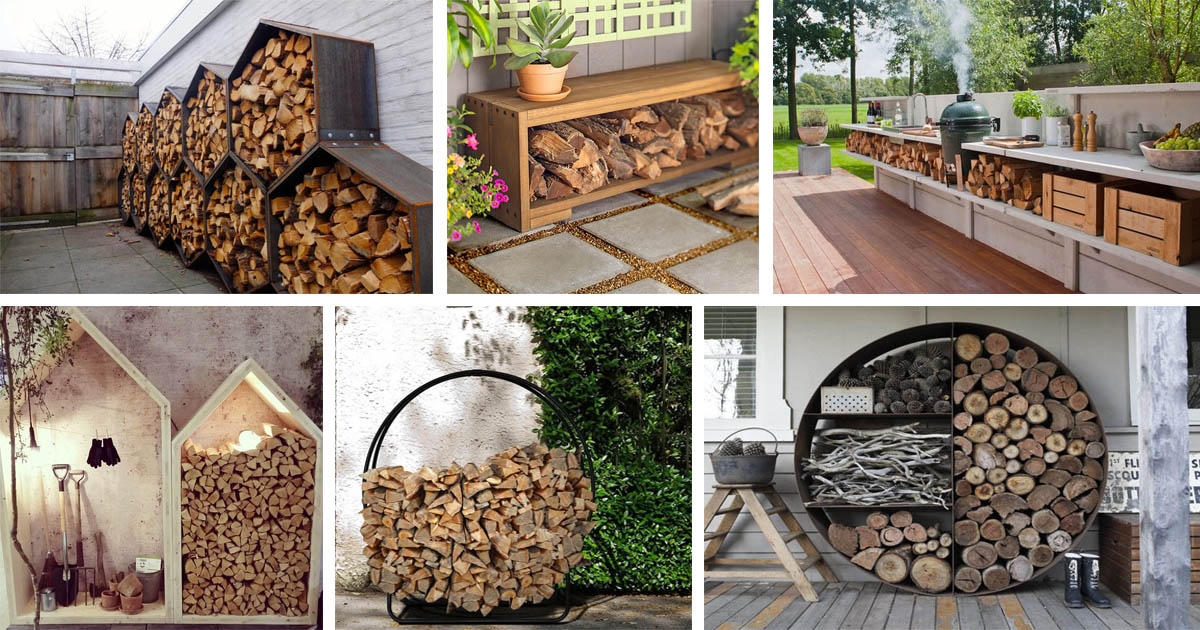 15+ Creative Outdoor Firewood Rack And Storage Ideas You ...