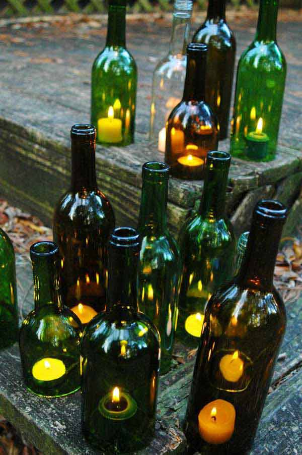 15 terrific diy glass bottle yard decor that will impress