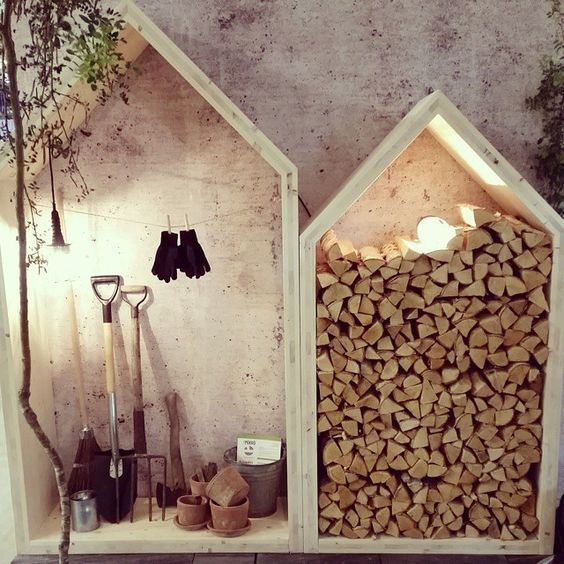 15 Creative Garden Ideas You Can Steal: 15+ Creative Outdoor Firewood Rack And Storage Ideas You