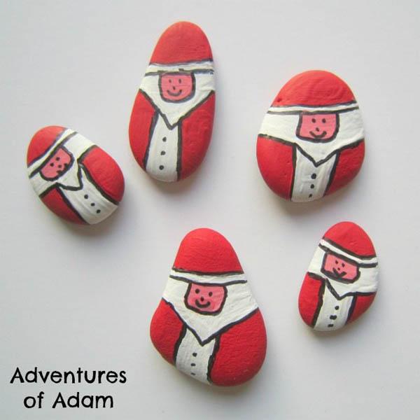 homemade-father-christmas-stones