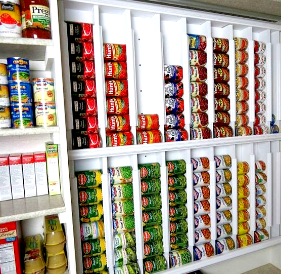 Organize Your Cans To Be Sure And Use The Oldest Cans First With This Can  Storage System.