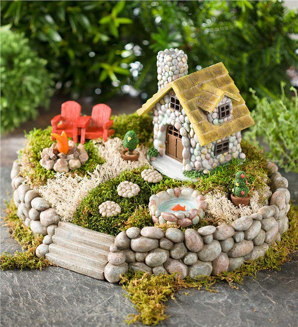 15 Mind Blowing Miniature Stone Houses To Make Your Garden