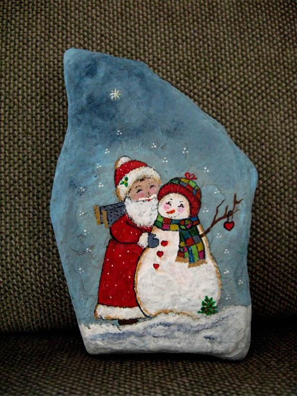 santa-and-snowman