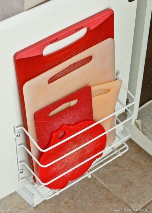 14 clever ideas to squeeze a little extra storage out of for Extra storage for small kitchen