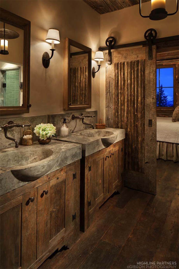 20 gorgeous rustic bathroom decor ideas to try at home - the art in life