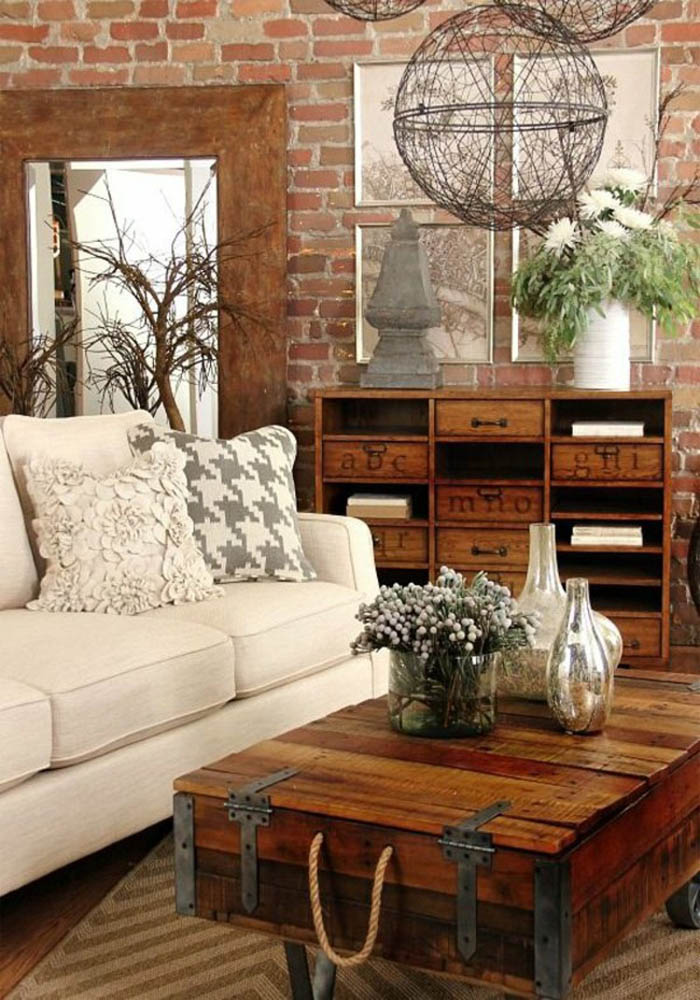 Rustic Living Room: 20 Best Rustic Chic Living Rooms That You Must See