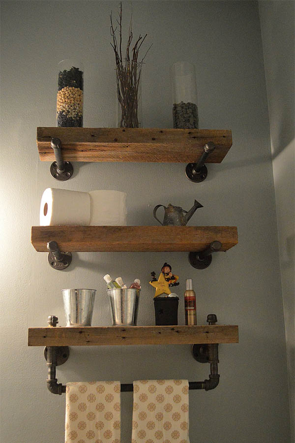 Decorative Rustic Storage Projects For Your Bathroom: 20 Gorgeous Rustic Bathroom Decor Ideas To Try At Home