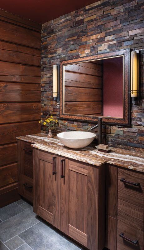 20 gorgeous rustic bathroom decor ideas to try at home for Rustic modern bathroom ideas