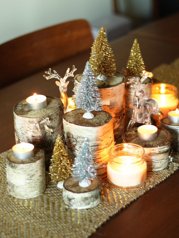 13. Birch Bosque & 17 Creative u0026 Classy DIY Christmas Table Decoration Ideas - The ART ...