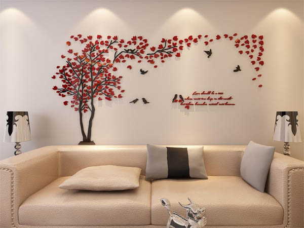 15 Stunning 3D Wall Sticker Ideas That Will Add Dimension ...