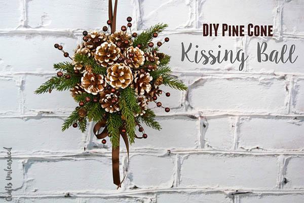 Christmas Kissing Ball Craft