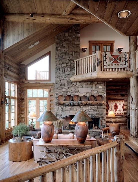 Cozy Wooden Living Room
