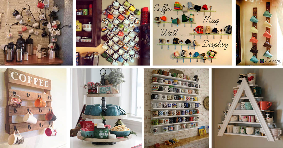 20 Fun And Practical Diy Coffee Mugs Storage Ideas For Your Kitchen The Art In Life