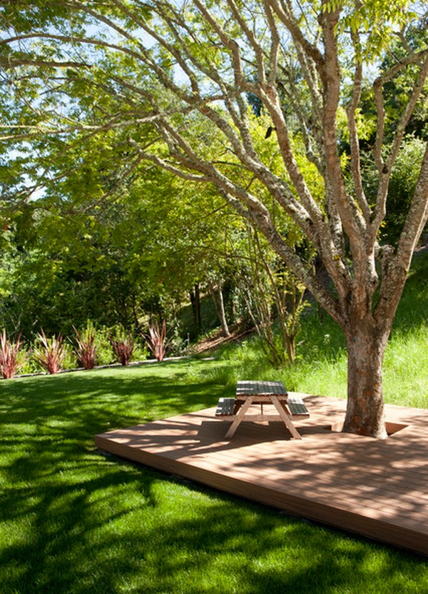 Landscaping Ideas Around Oak Trees : Impressive ideas to decorate around trees the art in life