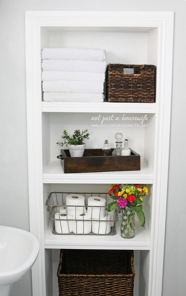 20 creative storage ideas to organize your small bathroom