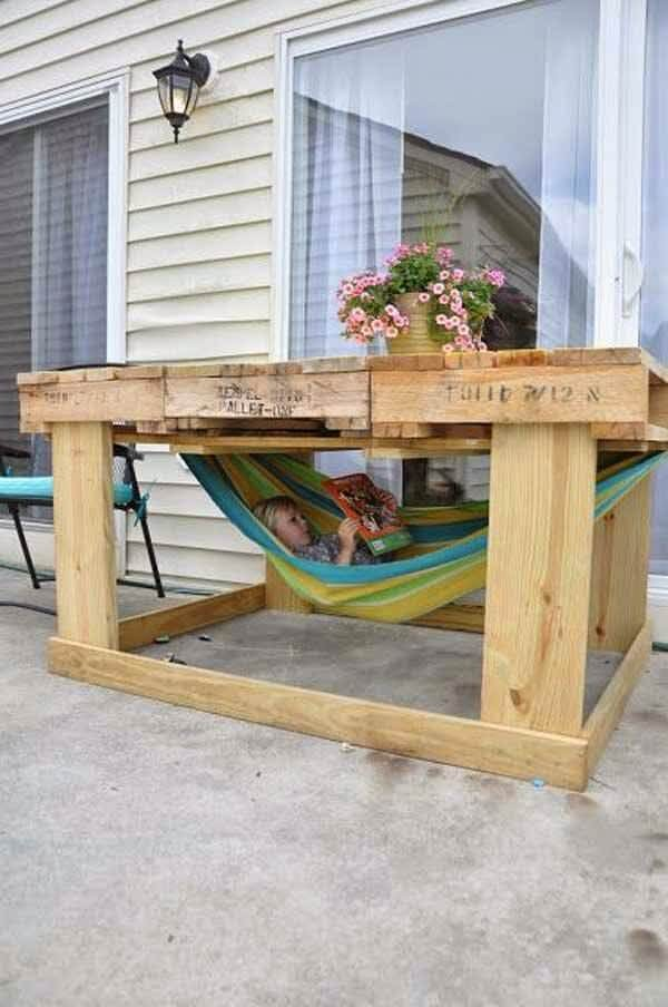 ... Build An Inexpensive Bed From Bookcases. on old porch furniture pallet