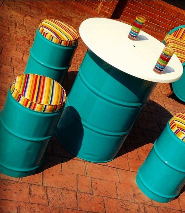 Repurposed Outdoor Furniture Patio Chairs