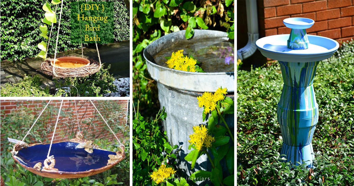 Good 10 Incredible DIY Bird Baths For Your Yard To Make In 3 Min   The ART In  LIFE