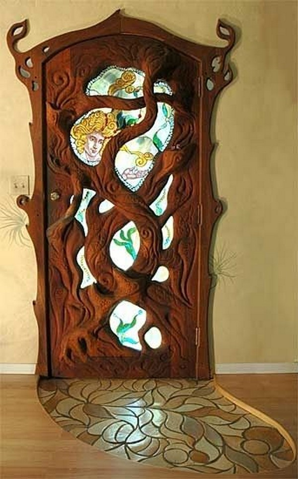 16 splendidly intricate hand carved doors that you must for Fairy front door