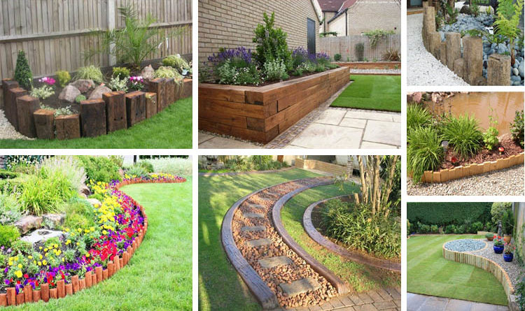 17 Fascinating Wooden Garden Edging Ideas You Must See - The