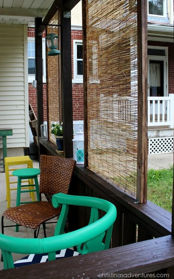 DIY Bamboo Privacy Screen. Backyard Ideas