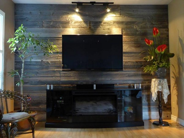 Incredible And Modern Diy Wood Pallet Wall That You Will