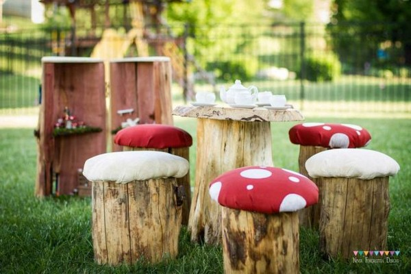 Turn Your Old Wooden Logs Into Lovely Mushroom Seat Stools In The Garden
