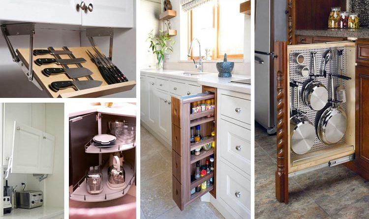 12 Mind Blowing Hidden Kitchen Storage Solution You Must